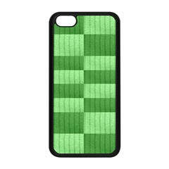 Wool Ribbed Texture Green Shades Apple Iphone 5c Seamless Case (black) by Celenk