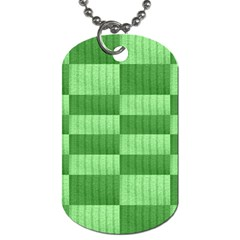Wool Ribbed Texture Green Shades Dog Tag (two Sides) by Celenk