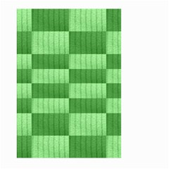 Wool Ribbed Texture Green Shades Large Garden Flag (two Sides) by Celenk