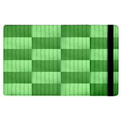 Wool Ribbed Texture Green Shades Apple Ipad 3/4 Flip Case by Celenk