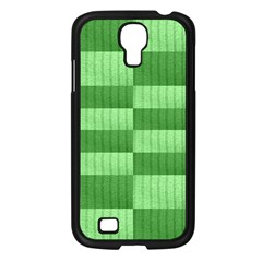 Wool Ribbed Texture Green Shades Samsung Galaxy S4 I9500/ I9505 Case (black) by Celenk