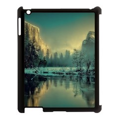 Yosemite Park Landscape Sunrise Apple Ipad 3/4 Case (black) by Celenk