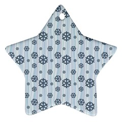Snowflakes Winter Christmas Card Ornament (star) by Celenk