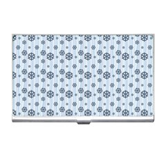 Snowflakes Winter Christmas Card Business Card Holders by Celenk