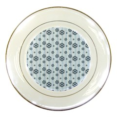 Snowflakes Winter Christmas Card Porcelain Plates by Celenk