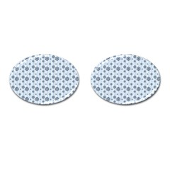 Snowflakes Winter Christmas Card Cufflinks (oval) by Celenk