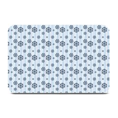 Snowflakes Winter Christmas Card Plate Mats by Celenk