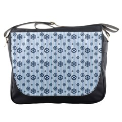 Snowflakes Winter Christmas Card Messenger Bags