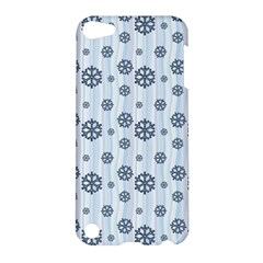 Snowflakes Winter Christmas Card Apple Ipod Touch 5 Hardshell Case by Celenk