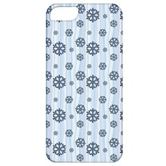 Snowflakes Winter Christmas Card Apple Iphone 5 Classic Hardshell Case by Celenk