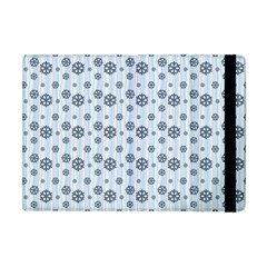 Snowflakes Winter Christmas Card Apple Ipad Mini Flip Case by Celenk