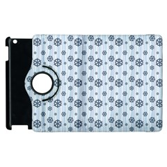 Snowflakes Winter Christmas Card Apple Ipad 3/4 Flip 360 Case by Celenk