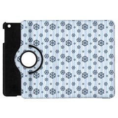 Snowflakes Winter Christmas Card Apple Ipad Mini Flip 360 Case by Celenk
