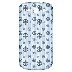 Snowflakes Winter Christmas Card Samsung Galaxy S3 S Iii Classic Hardshell Back Case by Celenk