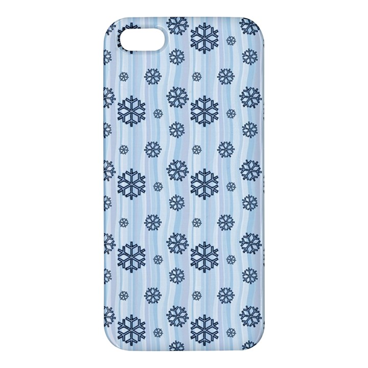 Snowflakes Winter Christmas Card Apple iPhone 5 Premium Hardshell Case