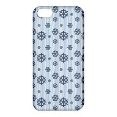 Snowflakes Winter Christmas Card Apple Iphone 5c Hardshell Case by Celenk