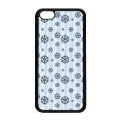 Snowflakes Winter Christmas Card Apple Iphone 5c Seamless Case (black) by Celenk