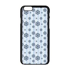 Snowflakes Winter Christmas Card Apple Iphone 6/6s Black Enamel Case by Celenk