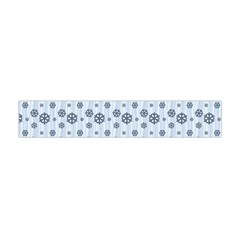 Snowflakes Winter Christmas Card Flano Scarf (mini) by Celenk
