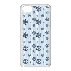 Snowflakes Winter Christmas Card Apple Iphone 7 Seamless Case (white) by Celenk