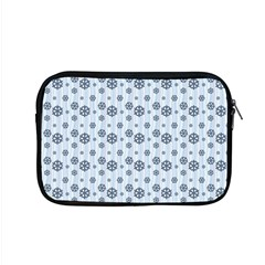 Snowflakes Winter Christmas Card Apple Macbook Pro 15  Zipper Case by Celenk