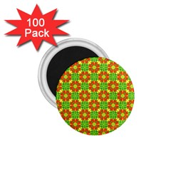 Pattern Texture Christmas Colors 1 75  Magnets (100 Pack)  by Celenk