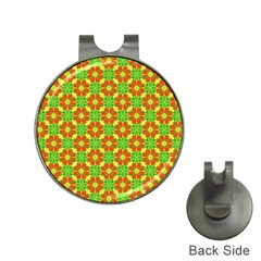 Pattern Texture Christmas Colors Hat Clips With Golf Markers by Celenk