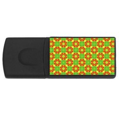 Pattern Texture Christmas Colors Rectangular Usb Flash Drive by Celenk