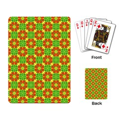 Pattern Texture Christmas Colors Playing Card by Celenk