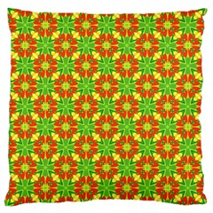 Pattern Texture Christmas Colors Large Cushion Case (two Sides) by Celenk