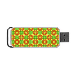 Pattern Texture Christmas Colors Portable Usb Flash (two Sides) by Celenk