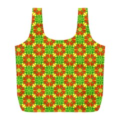 Pattern Texture Christmas Colors Full Print Recycle Bags (l)  by Celenk