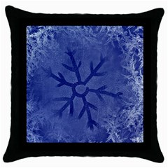 Winter Hardest Frost Cold Throw Pillow Case (black) by Celenk