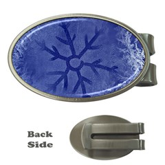 Winter Hardest Frost Cold Money Clips (oval)  by Celenk