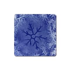 Winter Hardest Frost Cold Square Magnet by Celenk