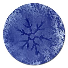 Winter Hardest Frost Cold Magnet 5  (round) by Celenk