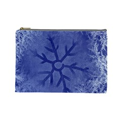 Winter Hardest Frost Cold Cosmetic Bag (large)  by Celenk