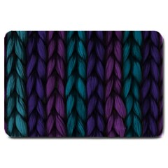 Background Weave Plait Blue Purple Large Doormat  by Celenk