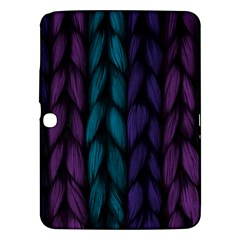 Background Weave Plait Blue Purple Samsung Galaxy Tab 3 (10 1 ) P5200 Hardshell Case  by Celenk