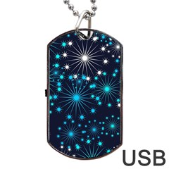 Wallpaper Background Abstract Dog Tag Usb Flash (two Sides) by Celenk