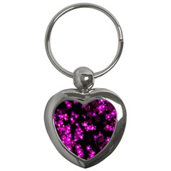 Abstract Background Purple Bright Key Chains (heart)  by Celenk