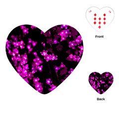 Abstract Background Purple Bright Playing Cards (heart)  by Celenk