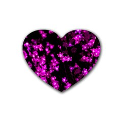 Abstract Background Purple Bright Rubber Coaster (heart)  by Celenk