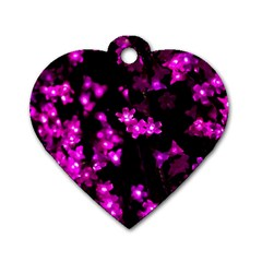 Abstract Background Purple Bright Dog Tag Heart (two Sides) by Celenk
