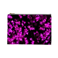 Abstract Background Purple Bright Cosmetic Bag (large)  by Celenk