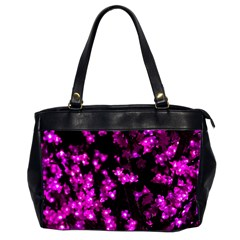 Abstract Background Purple Bright Office Handbags (2 Sides)  by Celenk