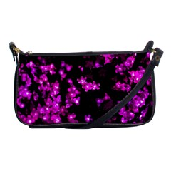 Abstract Background Purple Bright Shoulder Clutch Bags by Celenk