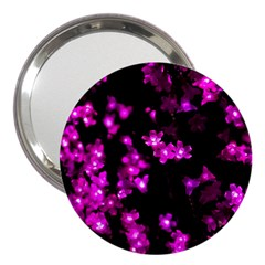 Abstract Background Purple Bright 3  Handbag Mirrors by Celenk