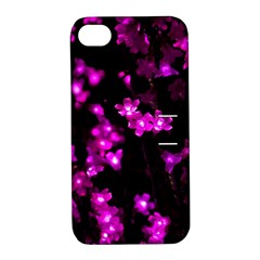 Abstract Background Purple Bright Apple Iphone 4/4s Hardshell Case With Stand by Celenk