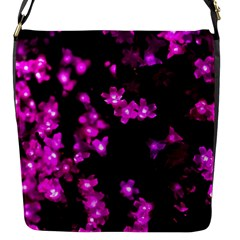 Abstract Background Purple Bright Flap Messenger Bag (s) by Celenk